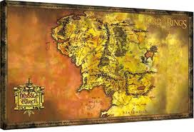 map from lord of the rings canvas print the lord of the rings middle earth map sold at
