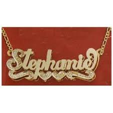 name plate necklaces nikgold rakuten personalized 14k gold overlay 3d name