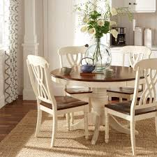 Country Dining Room Chairs Homesullivan 5 Piece Antique White And Cherry Dining Set 401393w