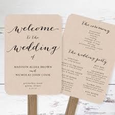rustic wedding fan programs wedding program fan template printable rustic wedding fan