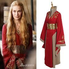 Halloween Game Thrones Costumes Game Thrones Queen Cersei Lannister Red Exclusive Dress Costume