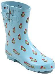 womens boots asda garden gnomes print wellington boots george