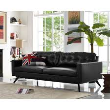 contemporary living room design with leather furniture brown sofa