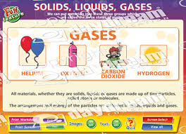 solids liquids gases science educational software