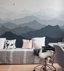 oversized wall art mountain mural wall art wallpaper peel and stick