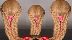 stylish hairstyle with 5 strand braids video dailymotion