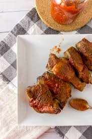 sugar free slow cooker barbecue ribs with homemade sauce