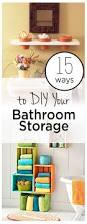 15 ways to diy your bathroom storage wrapped in rust