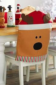 Christmas Chair Back Covers Ideas Para Hacer Cubresillas Navideños En Fieltro Y Tela01