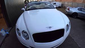 bentley wrapped bentley wrapped in pearl white youtube