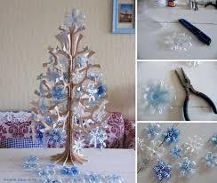 wonderful diy beautiful snowflake ornaments from plastic bottles