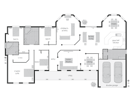 40 5 bedroom House Plans Concrete Split Level Home Floor Plan