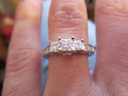 Princess Cut Diamond Wedding Rings by Pictures Of Your Princess Cut Diamond Engagement Rings Weddingbee