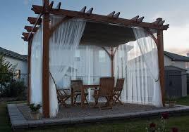 pergola breeze retractable canopy 10x10 curtains olt