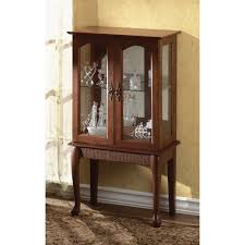Glass Cabinets In Kitchen Curio Cabinet Amazon Com Winsome Wood Poppy Display Cabinet