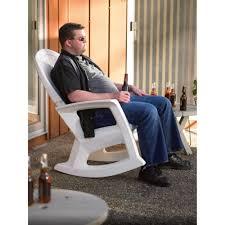 Outdoor Rocker Chair White Outdoor Rocking Chair U2014 600 Lb Capacity Www Kotulas Com
