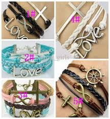 bracelet styles images Fashion 5 style charm bracelet really cow leather bracelet cheap jpg