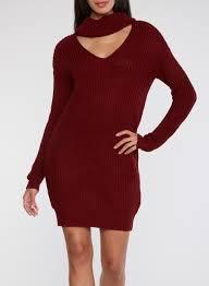 maroon sweater dress cowl neck knitted sweater dress rainbow