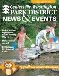 centerville washington park district summer 2017 news u0026 events by