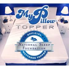 pillow bed topper mypillow bed topper the official bed topper of the national