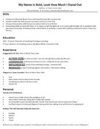 Word 2013 Resume Templates Resume Template For Federal Government Jobs Sample Examples Of