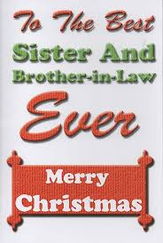 family christmas cards sister brother law