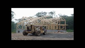 construction of a post and beam home by timberhaven youtube