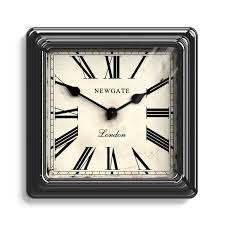 vintage black square wall clock roman newgate clocks croupier