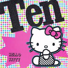 hello kitty age 10 birthday card cardspark