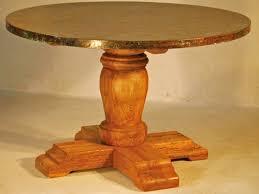 Copper Pedestal Round Old World Table Rustic Tuscan Spanish Design Elegant