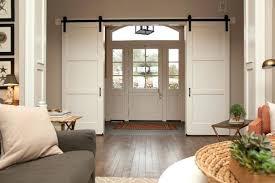 front door closet design hall ideas doors hallway table chair