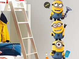 wall decorations awesome cute minions wall decal theme looks full size of wall decorations awesome cute minions wall decal theme looks so real and