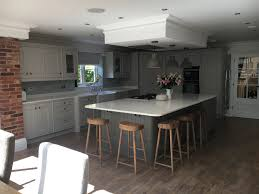 grey bespoke kitchen cornforth white and plummet paint cox and