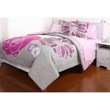 Teen Floral Bedding Leah Reversible Bed In A Bag Bedding Set Walmart Com