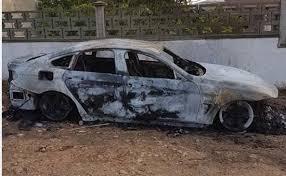auto usate porto torres porto torres incendiata l auto di un commerciante atto doloso