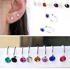 cheap clip on earrings hot sale 16 colors clip on earrings for women 4mm ear cuff