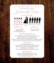 make your own wedding program diy wedding program silhouette program by pixelromance4ever