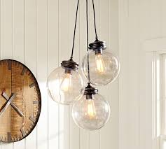 Multi Pendant Lighting Fixtures Calhoun Multi Pendant Pottery Barn