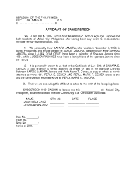 Sle Letter Certification Marriage Letter Of Certification Of Knowing A Person Sle 28 Images