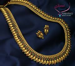 long necklace designs images Mango design jewellery antique long necklace gold plated ear rings jpg