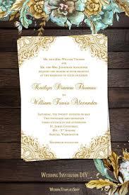 gold wedding invitations vintage wedding invitation gold wedding template shop