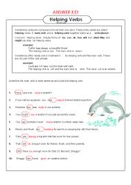 helping verbs worksheets worksheets