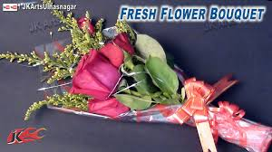 Real Flowers - diy fresh flower bouquet how to make gift idea jk arts 664