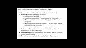 how to write results and discussion in a research paper organizing a discussion in a research paper youtube