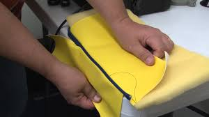 Cushion Sponge Material Ultrafeed Sewing Piping To Vinyl Fabrics With Foam Backer Youtube