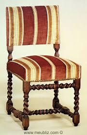 chaises louis xiii chaise louis xiii garnie à petit dossier et piétement tourné