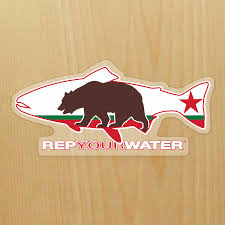 Califirnia Flag California Rep Your Water