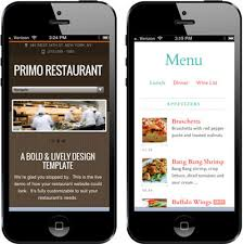 restaurant mobile website design
