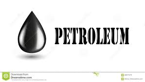 petroleum industry horizontal banner with oil products isolated