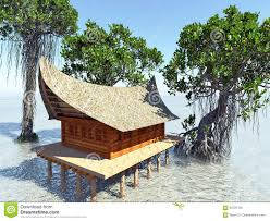 Beach Houses On Stilts by House On Stilts In The Mangrove Forest Beach Architecture 3d